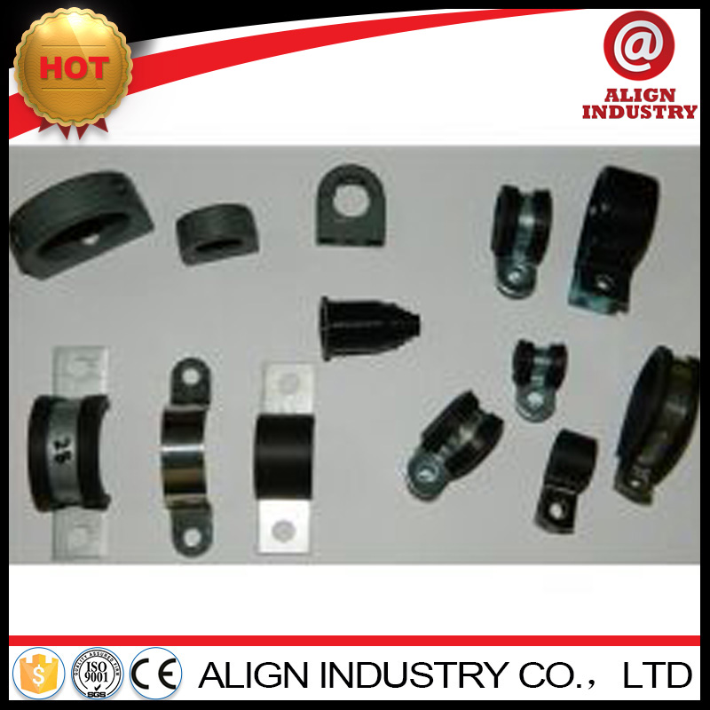 Good quality rubber lined stainless p clips with CE certificate
