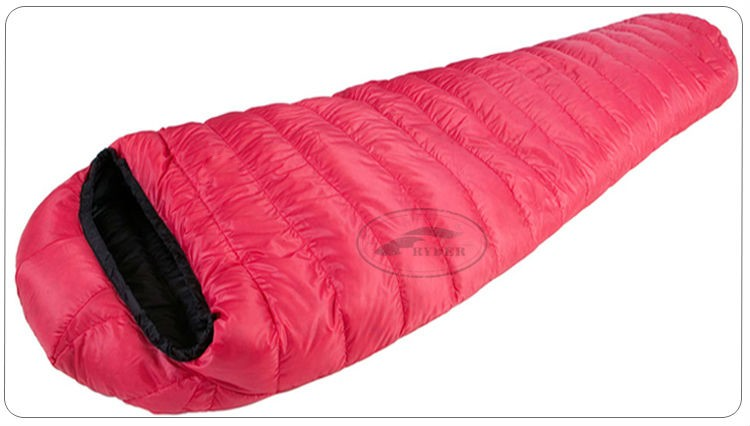 Bright Pink Mummy Hollow Fiber Sleeping Bag Adult