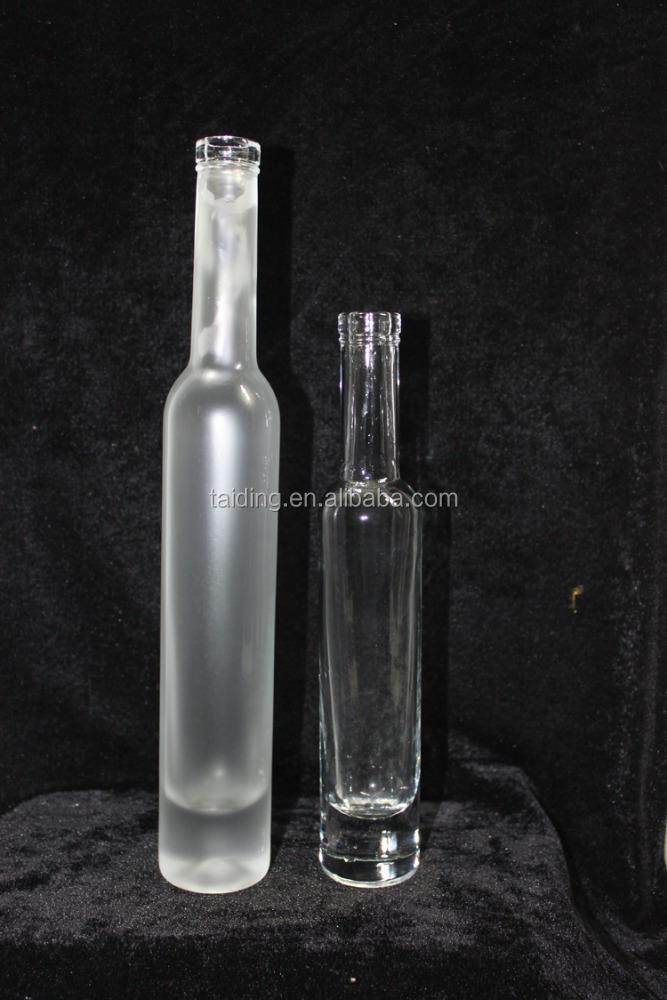 Wholesale small liquor glass bottle empty glass mini wine for Empty mini plastic wine bottles