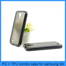For PC Matte Matting Back Skin with TPU Bumper Frame Case Cover Samsung S4 Case