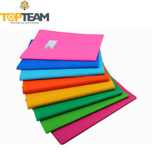 A4 hard Plastic PVC plain colour exercise book cover for students
