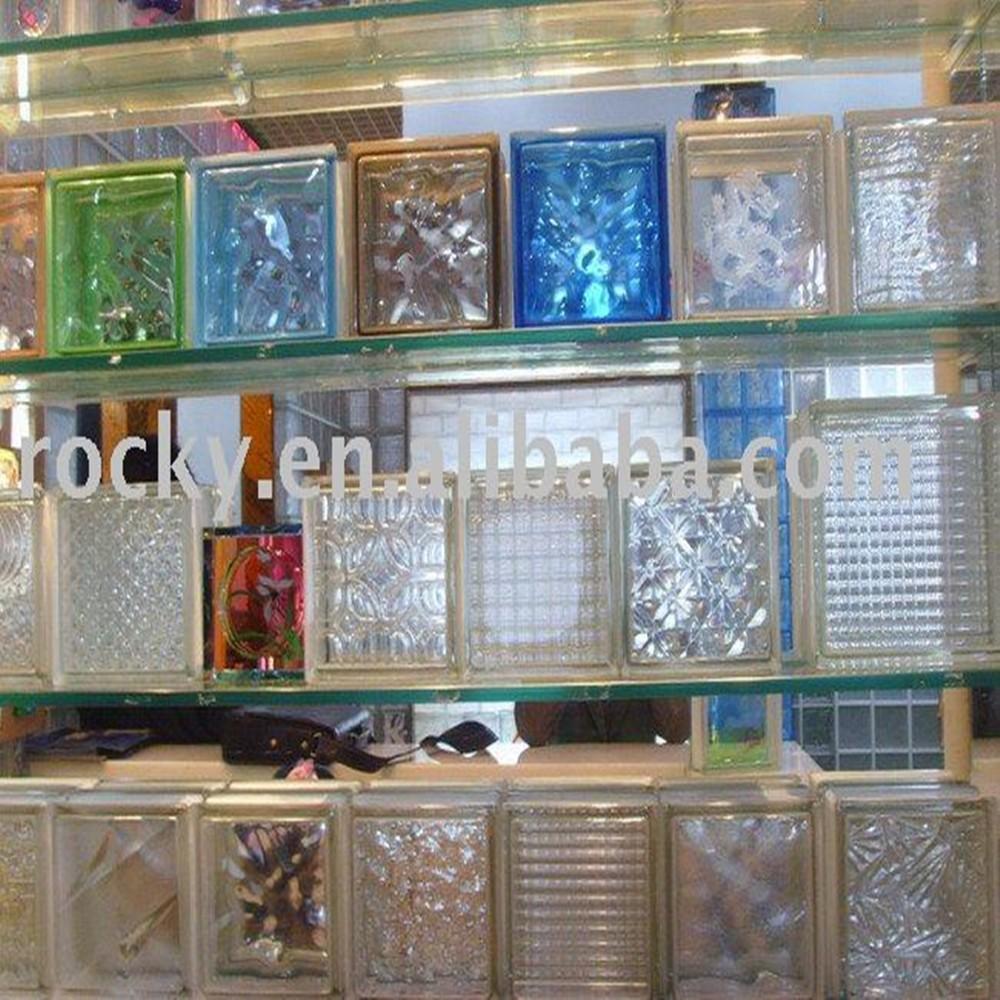 Qingdao rocky alta calidad bajo precio 190 190 80mm barato - Bloque de vidrio precio ...