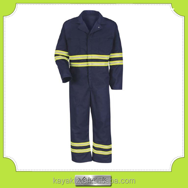 custom men's reflective waterproof winter coveralls
