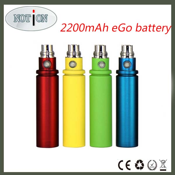 2200mah battery for e-cig from China origin ego mega battery 2200mah