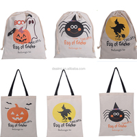 Wholesale Mixed Design 100% Lovely Cotton Halloween Tote