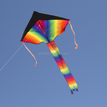 huge rainbow delta kite for kids