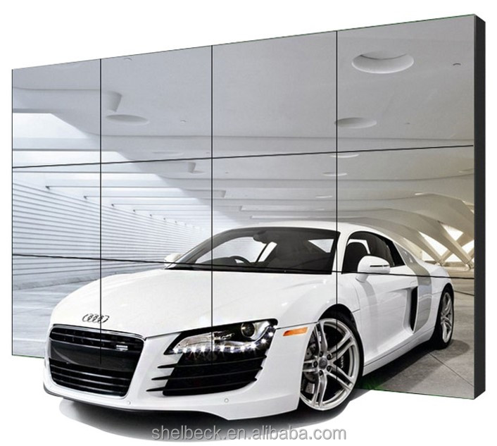 3*3 55 inch full HD display glass free 3D video wall with DID 3.5mm ultra narrow bezel