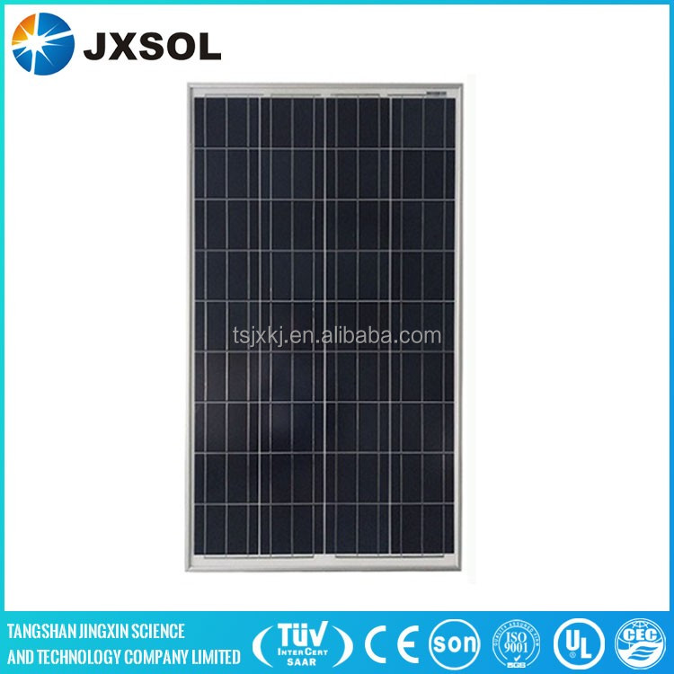 efficient polycrystalline pv model 100w poly solar panel