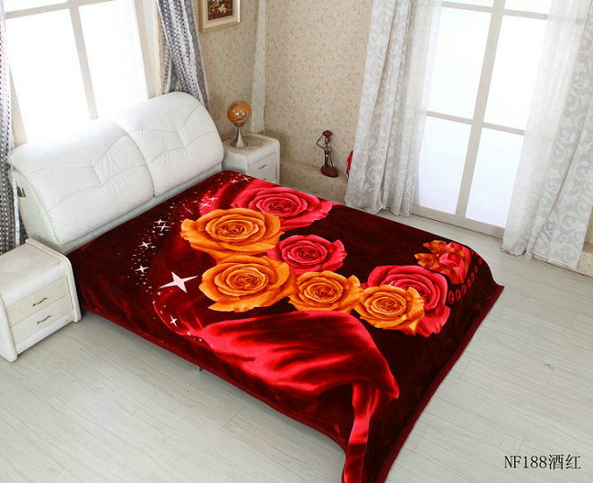 160x220cm hot selling best quality polyester mink blanket