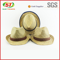 Straw Hat With Printing Band Custom Design Wheat Straw Hat