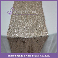 SQN#18 Jenny Bridal Modern Champagne Sequin Table Runner