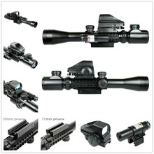 New Riflescopes Hunting Optics Rifle 3-9X40 Illuminated Red/Green Laser Riflescope With Holographic Dot Sight Airsoft Weapon Gun