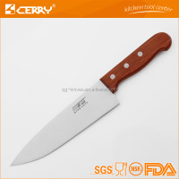 Good quality stainless steel kitchen knife with wood handle
