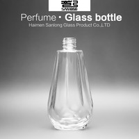 empty custom made glass perfume bottle for sale