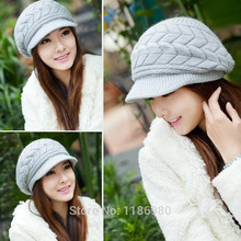 Winter Warm Lady Fashion Casual Cap Knit Crochet Hat