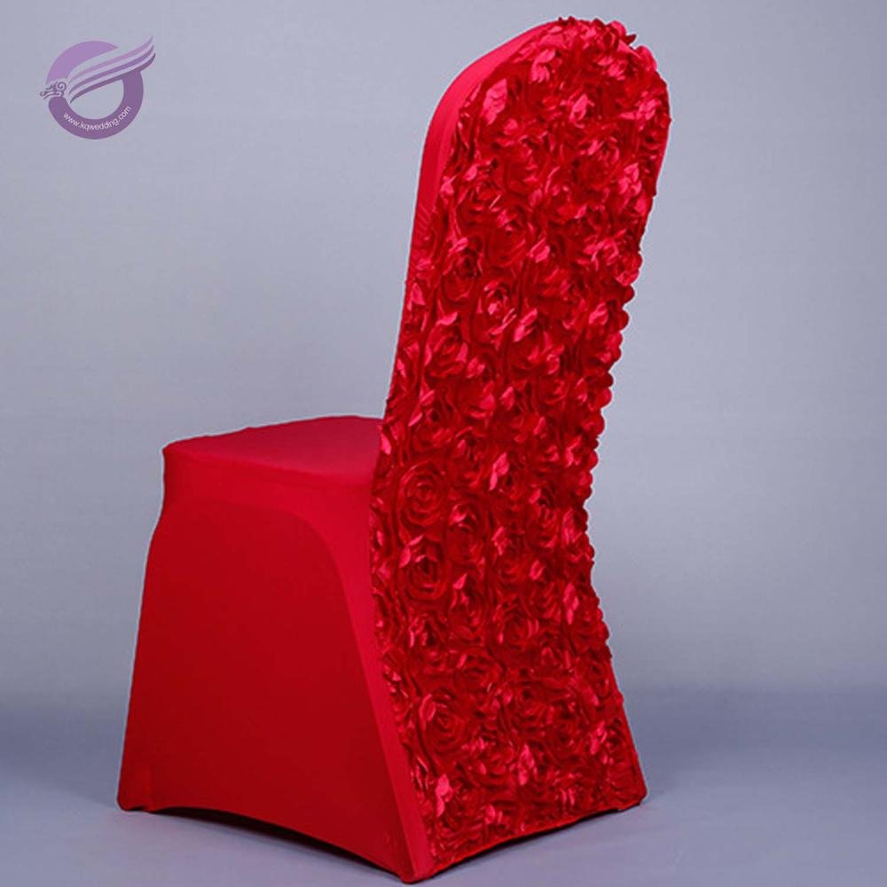 YT00153 colorful base rosette high quality polyseter new items fancy banquet chair cover