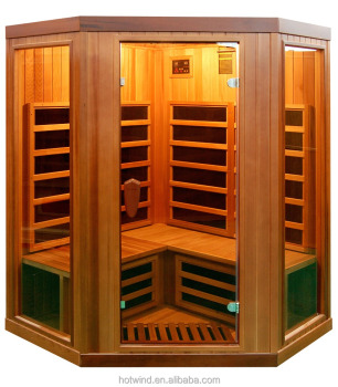 Far infrared Cedar carbon corner sauna room
