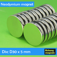 Wholesale high quality rare earth magnets D30x5mm magnetic disc