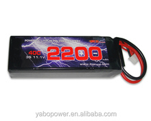 High quality 11.1V 40C 3S 2200mah Lipo Battery for airsoft /gun/RC model/hobby