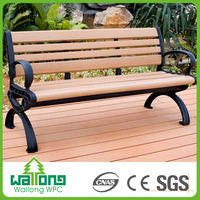 Good price superior quality wood plastic composite bench for park