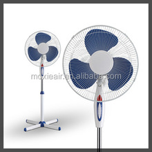 3 PP b floor stand fans 16 inch with cross base energy saver fans with led light 16'' stand fan