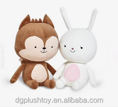 Lovely rabbit bunny and monkey plush toy