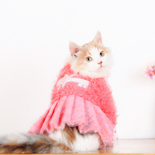 Pet Accessories Pink Cat Dog Clothes Dress
