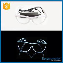 New Arrival Party Holidays Decorative LED EL Wire Glow Sunglasses Wholesale