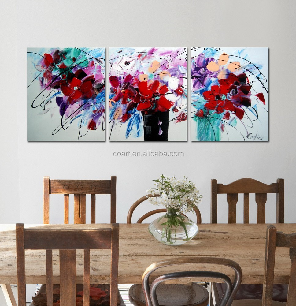 Modern Canvas Abstract Flower Oil Painting