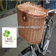 graceful folding wicker bicycle basket