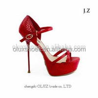OS15 Summer Women Stiletto Peep Toe Ankle Strap Bride Wedding Shoes