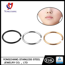 High Quality Sexy Hot Sale No Allergy Stainless Steel Nose Ring Jewelry
