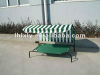 wholesale metal frame iron pet dog beds with cover and roof