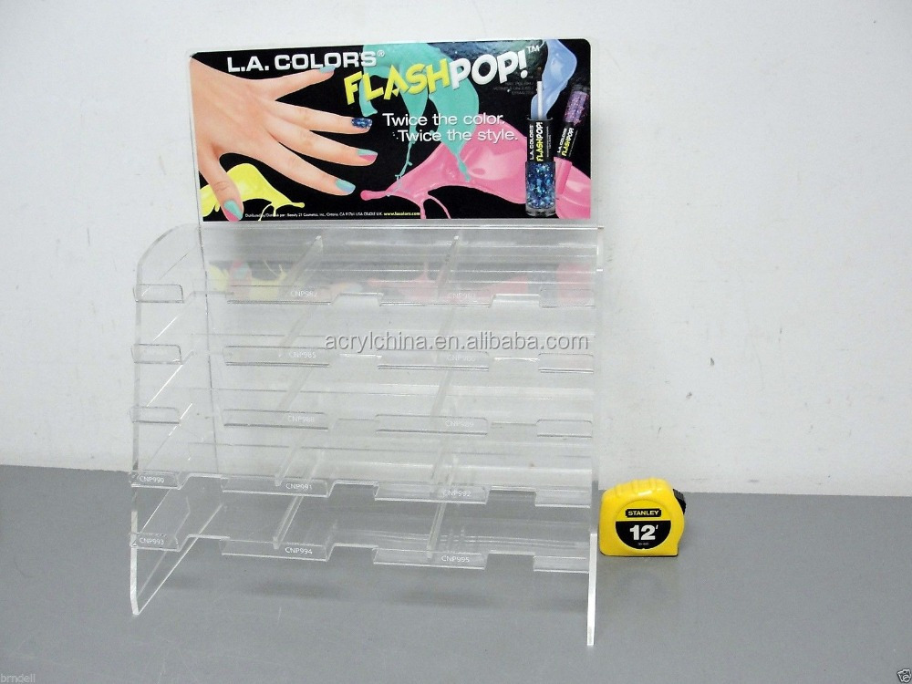 ACRYLIC POP NAIL POLISH DISPLAY STAND TABLE TOP RACKS
