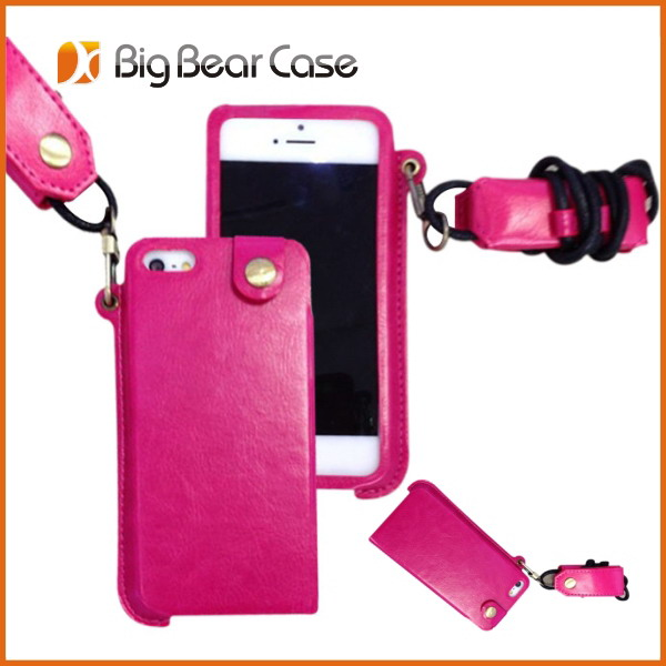 For iphone 5 wallet leather case mobile phone accessory
