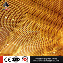 interior aluminum suspended open cell ceiling tiles metal ceiling for shop for metro station