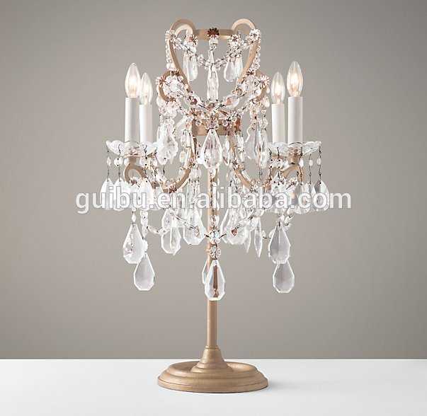 Luury chandelier table light for wedding decor