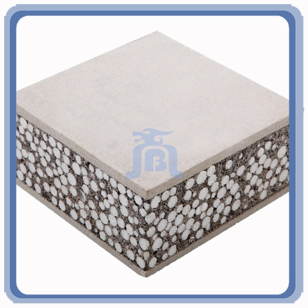 Fiber Cement Type Water Resistant Decorative Interior EPS Sandwich Wall Panels