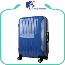 Cheap wholesale blue travel carry on hard abs trolley luggage set upright case
