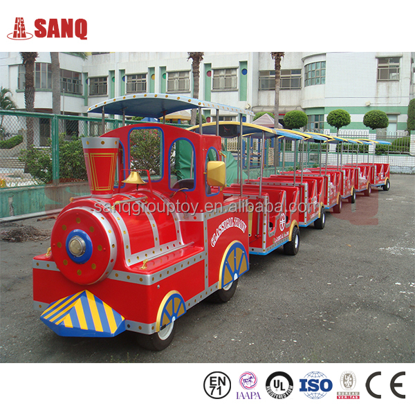2016 SANQGROUP Factory Directly Sale ! New Model Amusement Park Rides Trackless Train Tourist Train For Sale