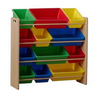 New Design Wooden Kids Toy Cabinet With Basket