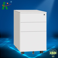 A4 B4 FC 900W white 3 drawer CKD steel lateral file cabinet