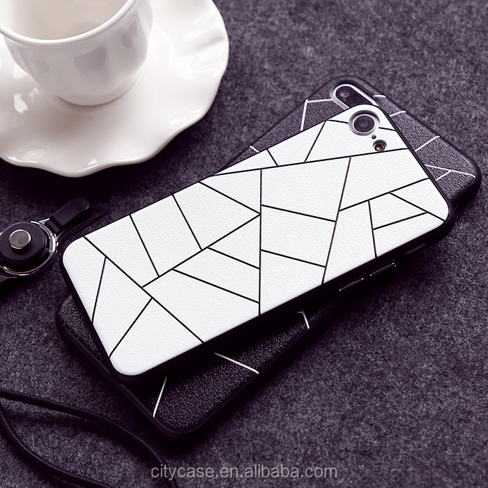 citycase 2016 geometric pattern waterproof silicone phone case cover for iPhone 7 7plus