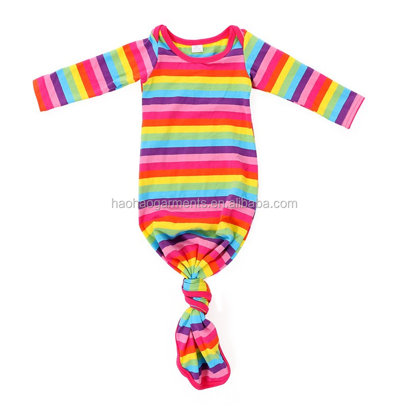 colored plain blank long sleeve summer sleeping gowns infant baby boy dresses