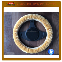 car interior decoration artificial fur steering wheel covers