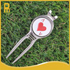 Bulk golf divot repair tools or gof pitchforks with red queen golf ball markers