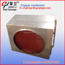 Custom copper fin water to air chilling coil Heat exchanger
