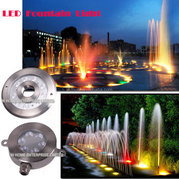 High quality DMX 9W IP68 waterproof underwater light,led fountain ring light IP68 LED underwater light