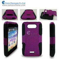 Mobile phone mesh PC+TPU combo case for LG MS770
