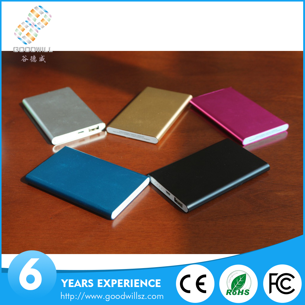 Thin slim power bank 4000mah portable charger external battery 4000mah mobile phone charger